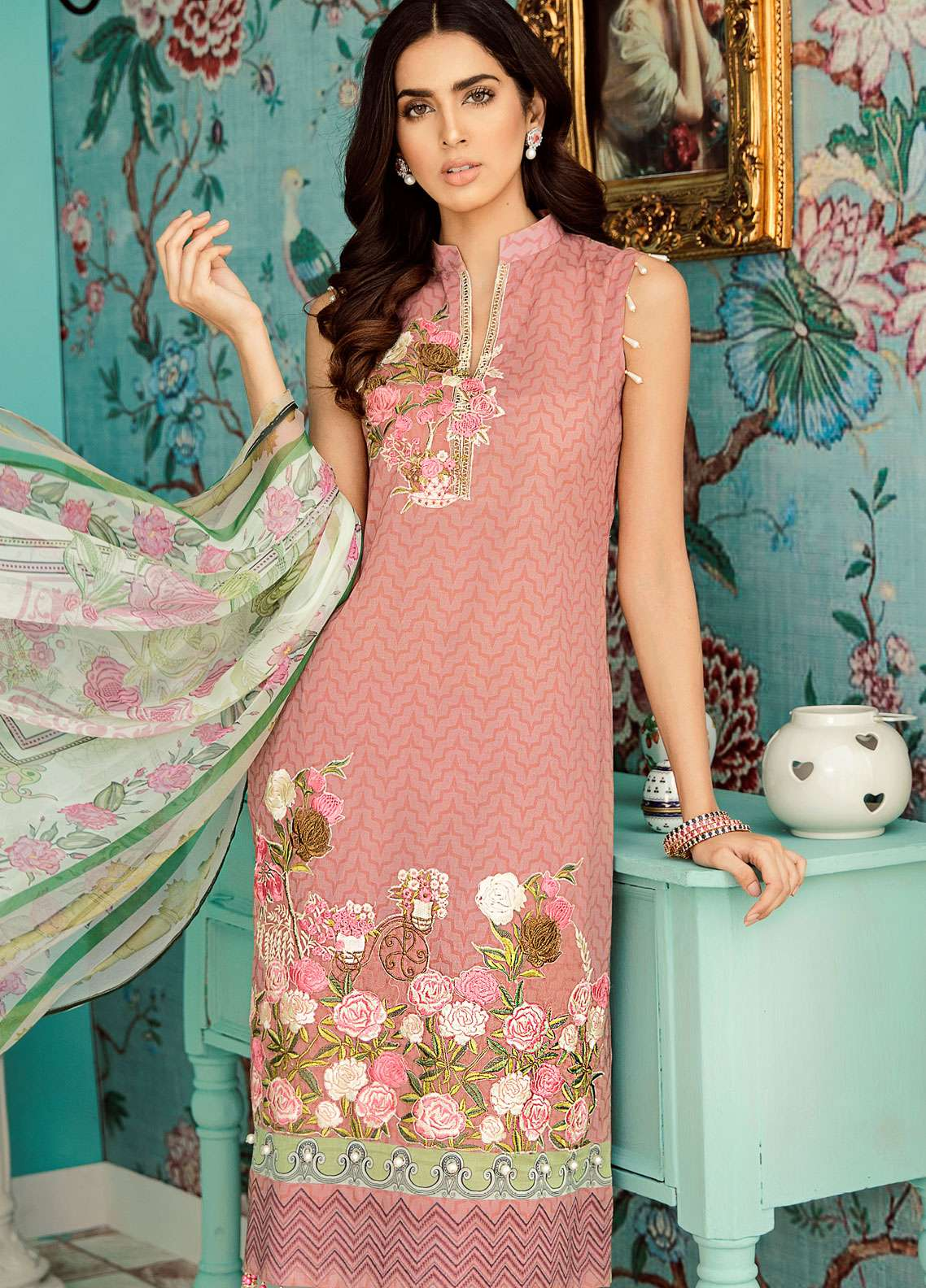 Azalea Embroidered Lawn Unstitched 3 Piece Suit AZA19EL 09 - Spring / Summer Collection