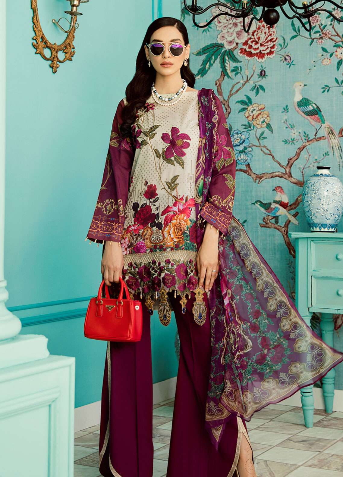 Azalea Embroidered Lawn Unstitched 3 Piece Suit AZA19EL 11 - Spring / Summer Collection