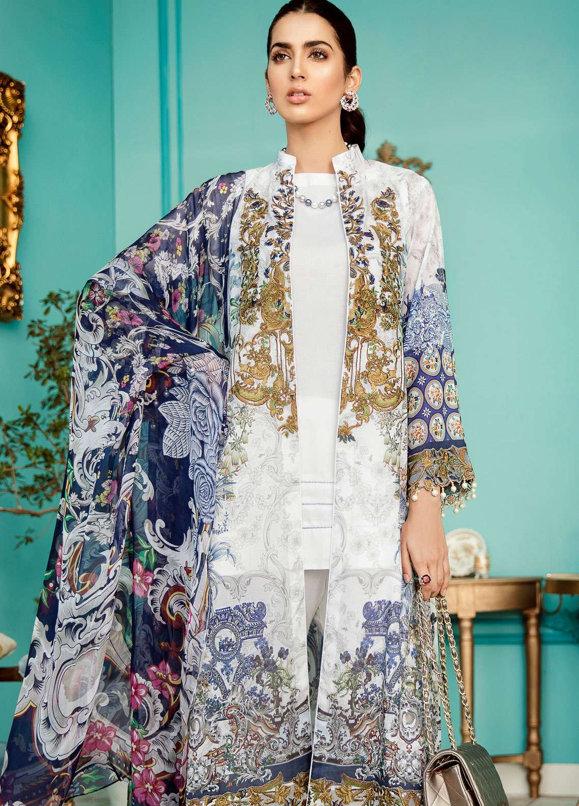 Azalea Embroidered Lawn Unstitched 3 Piece Suit AZA19EL 12 - Spring / Summer Collection