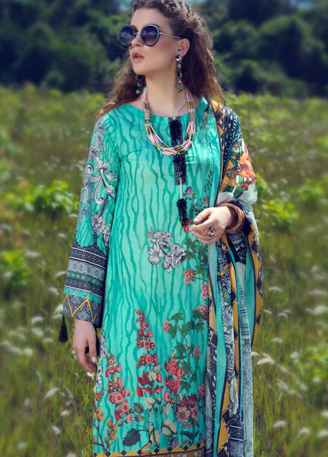 Azalea Printed Lawn Unstitched 3 Piece Suit AZA19L 09 FLORIDA - Spring / Summer Collection