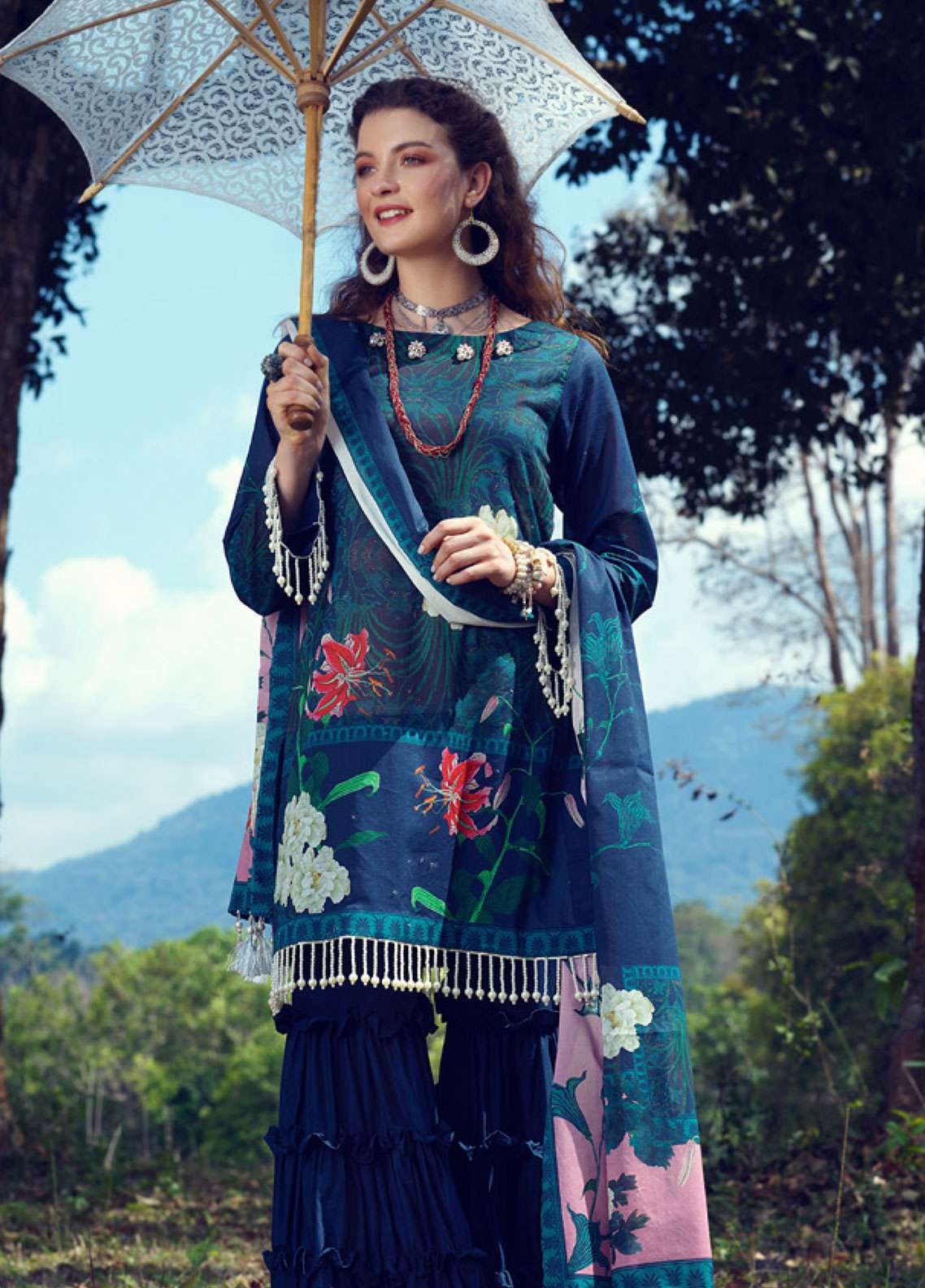 Azalea Printed Lawn Unstitched 3 Piece Suit AZA19L 15 ROYAL GARDEN - Spring / Summer Collection