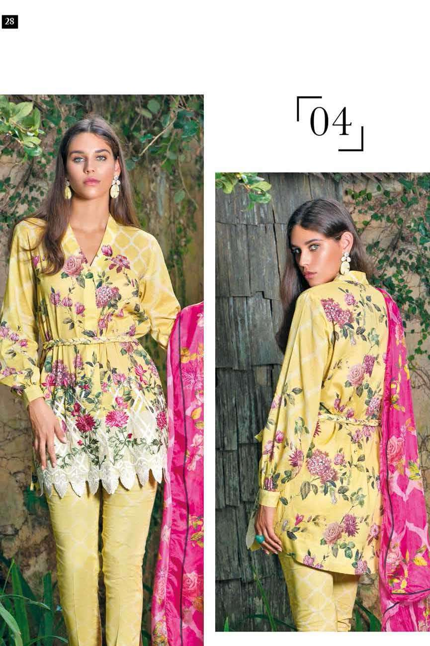 Mahgul by Al Zohaib Embroidered Lawn Unstitched 3 Piece Suit AZM17L 04