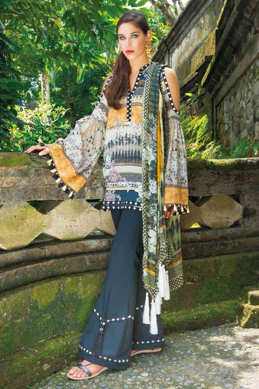 Mahgul by Al Zohaib Embroidered Lawn Unstitched 3 Piece Suit AZM17L 07