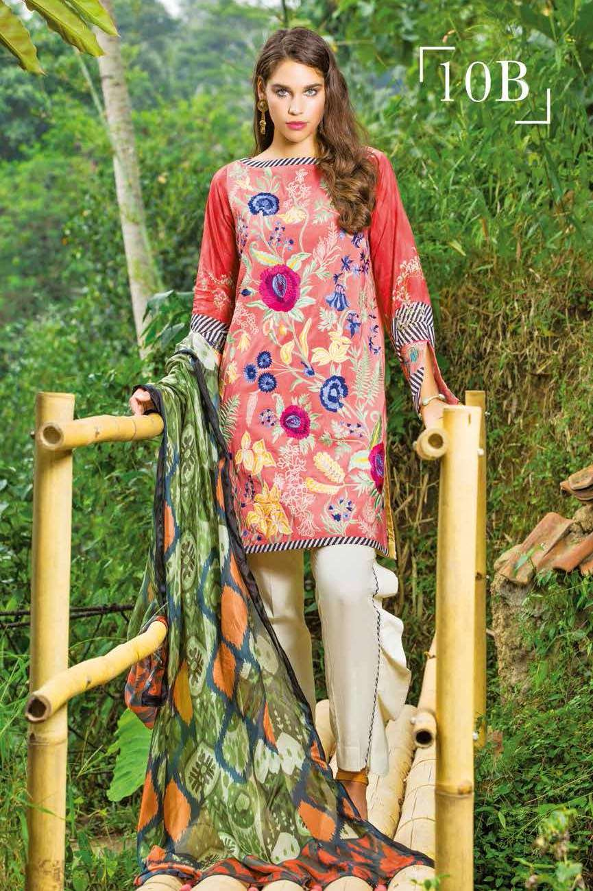 Mahgul by Al Zohaib Embroidered Lawn Unstitched 3 Piece Suit AZM17L 10B