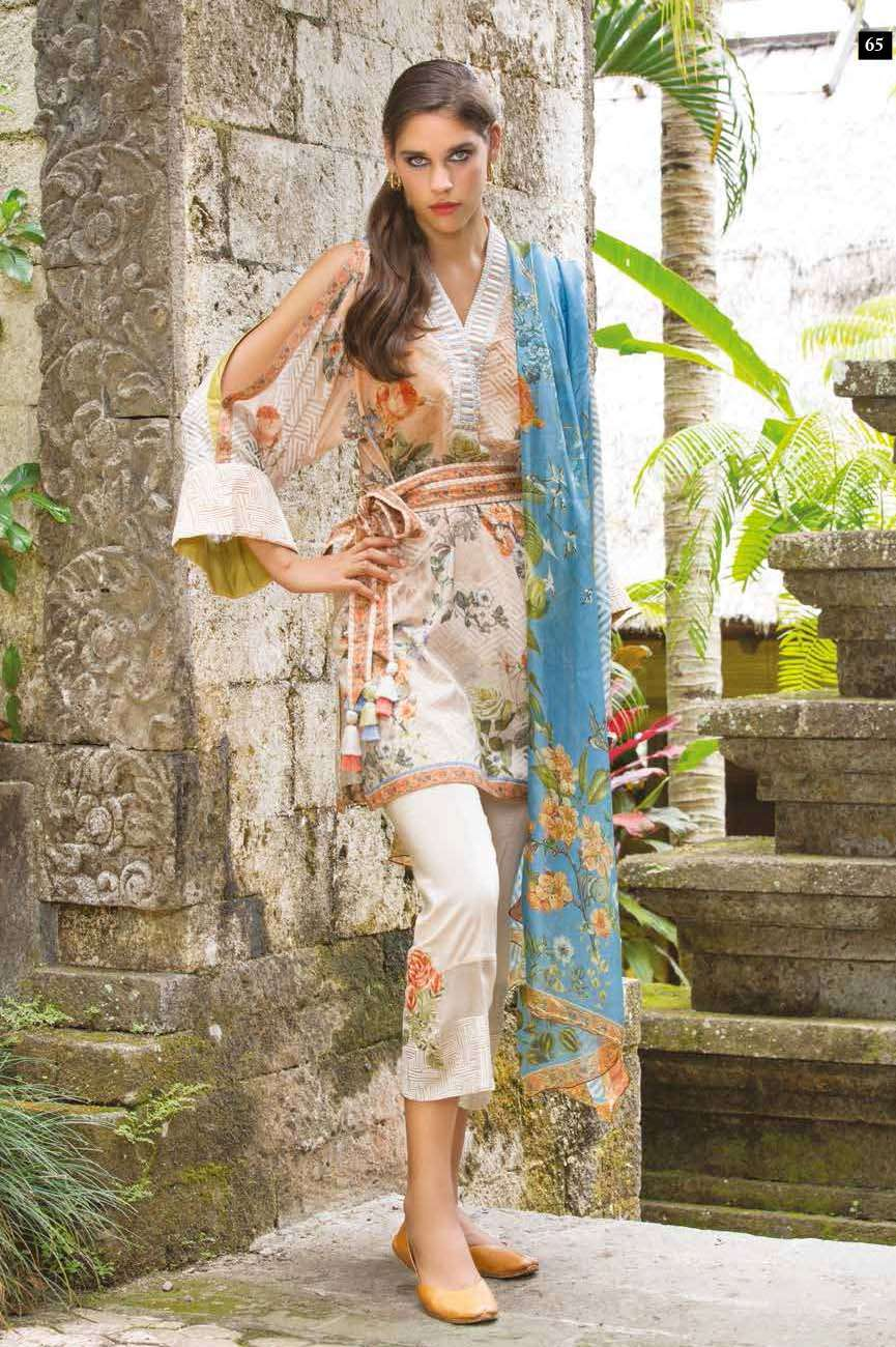 Mahgul by Al Zohaib Embroidered Lawn Unstitched 3 Piece Suit AZM17L 11A