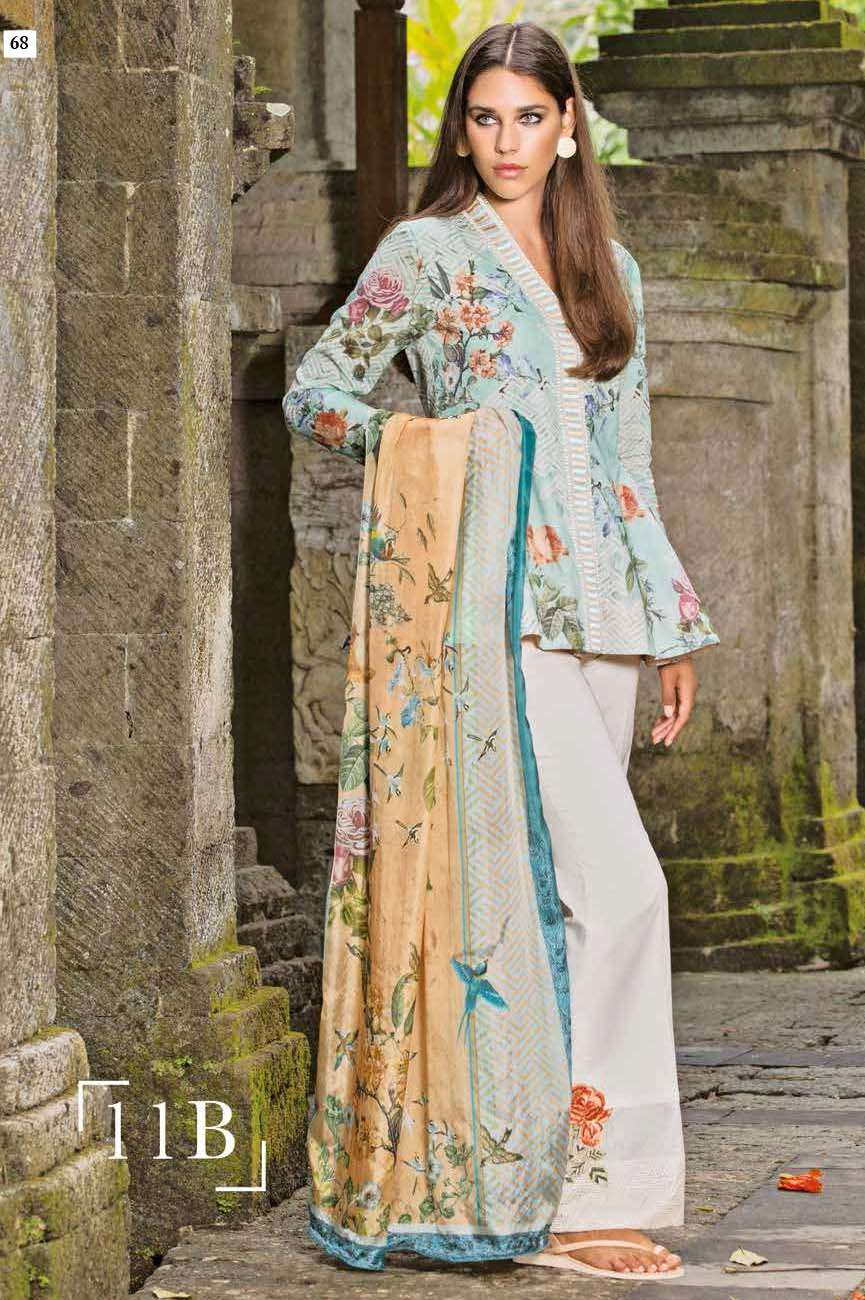 Mahgul by Al Zohaib Embroidered Lawn Unstitched 3 Piece Suit AZM17L 11B
