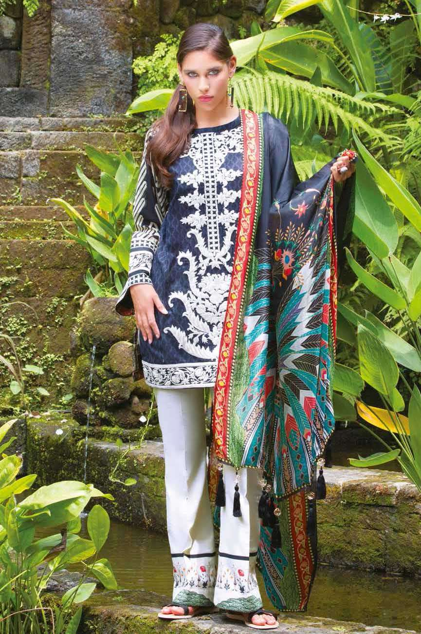 Mahgul by Al Zohaib Embroidered Lawn Unstitched 3 Piece Suit AZM17L 14