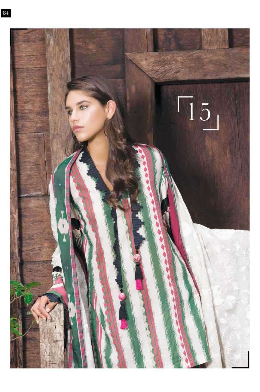 Mahgul by Al Zohaib Embroidered Lawn Unstitched 3 Piece Suit AZM17L 15