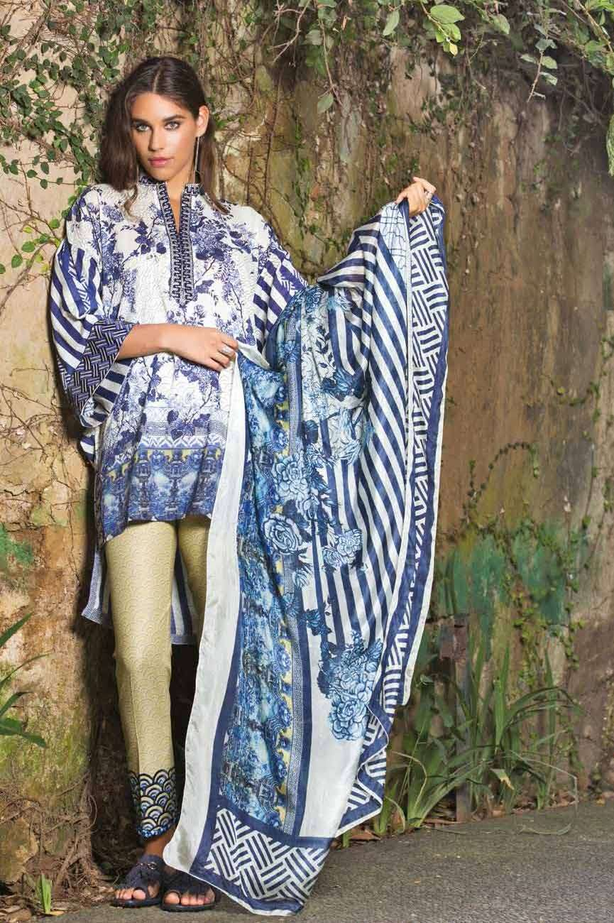 Mahgul by Al Zohaib Embroidered Lawn Unstitched 3 Piece Suit AZM17L 1A