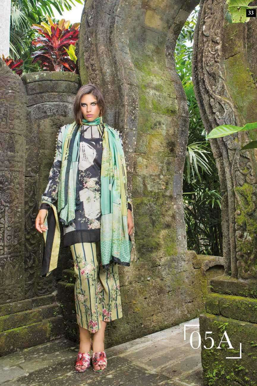 Mahgul by Al Zohaib Embroidered Lawn Unstitched 3 Piece Suit AZM17L 5A