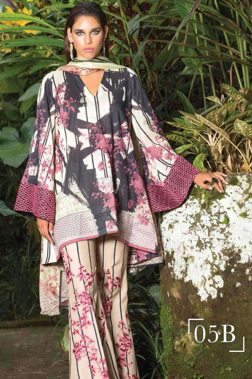 Mahgul by Al Zohaib Embroidered Lawn Unstitched 3 Piece Suit AZM17L 5B
