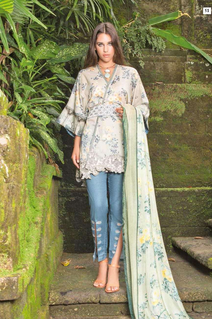 Mahgul by Al Zohaib Embroidered Lawn Unstitched 3 Piece Suit AZM17L 9A