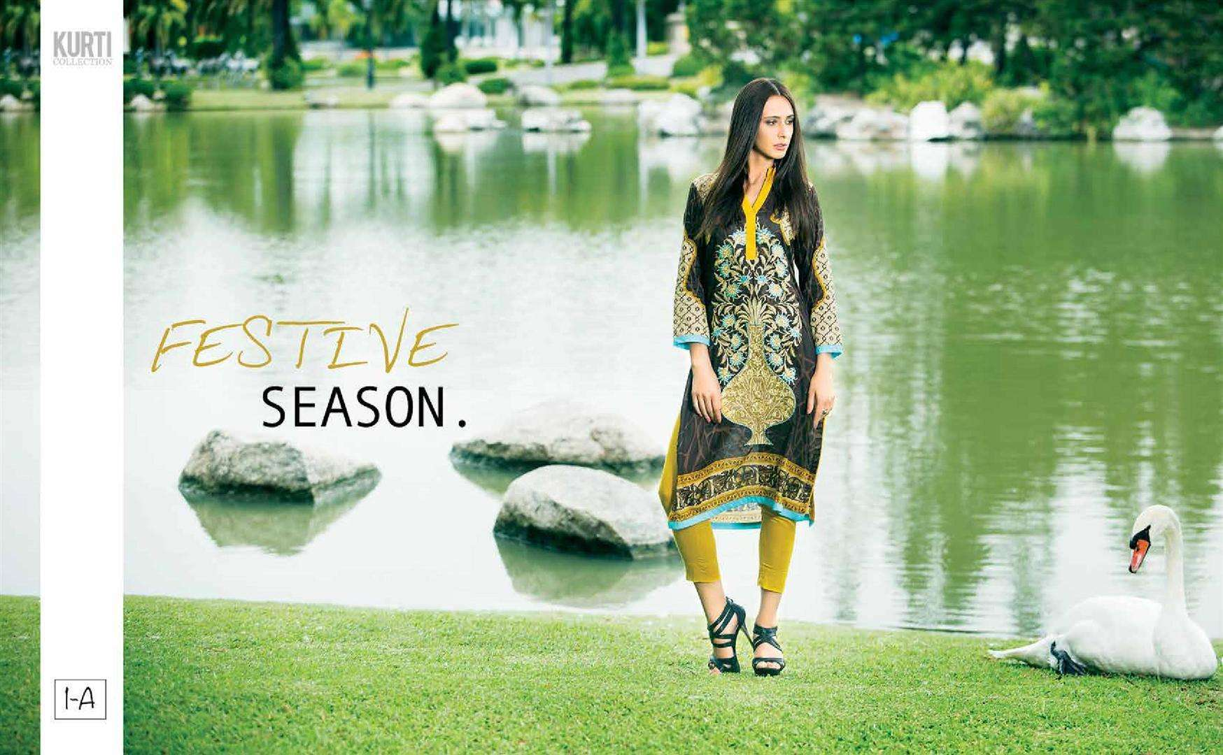 Zaneesha By Al Zohaib Embroidered Lawn Unstitched Kurtis AZN16S 1A