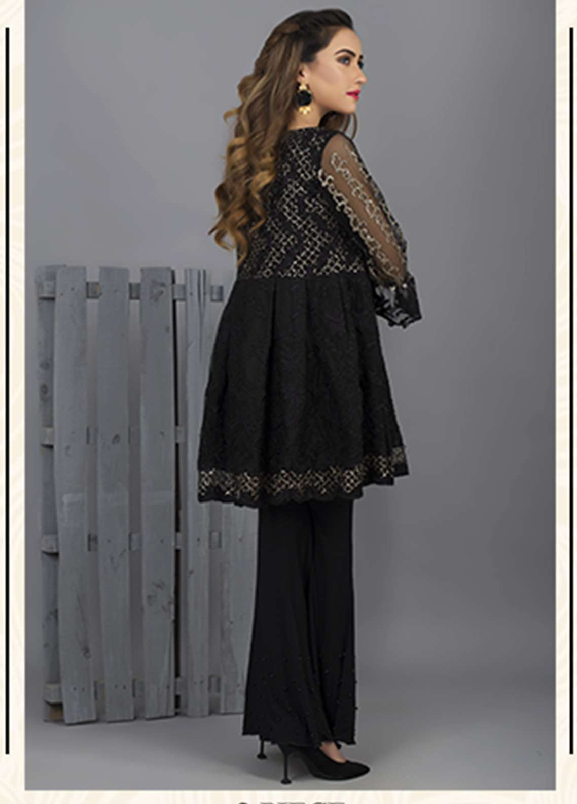 Azure Embroidered Cotton Net Stitched 2 Piece Suit AZU18C 06