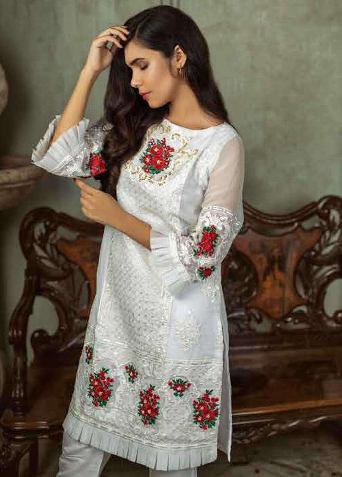 Azure Embroidered  Stitched 2 Piece Suit AZU18-C2 COSMIC PEARL