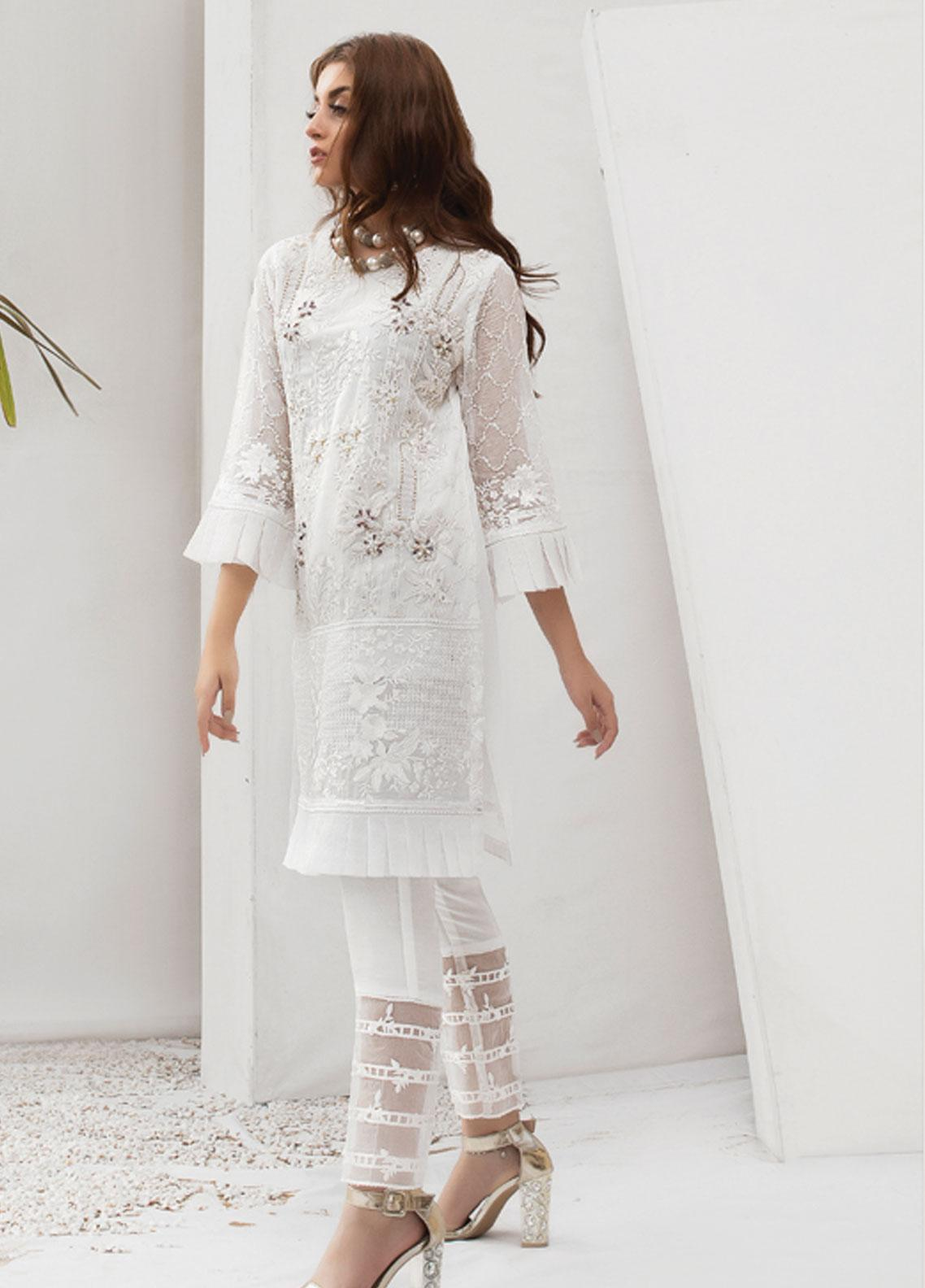 Azure Embroidered Chiffon Stitched 2 Piece Suit AZU19P 03 LOTUS DREAMS