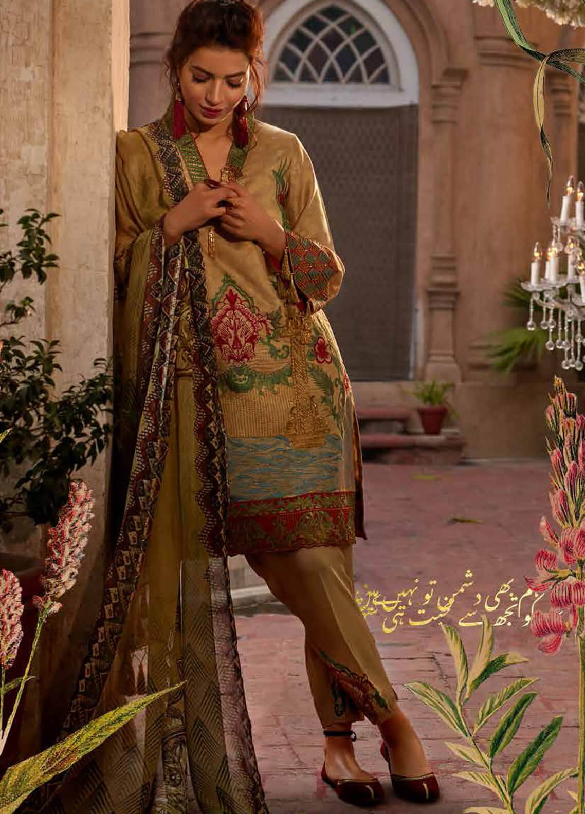 b72d32f5c1 Banaras By Noor Textiles Embroidered Jacquard Unstitched 3 Piece Suit B06 -  Spring / Summer Collection