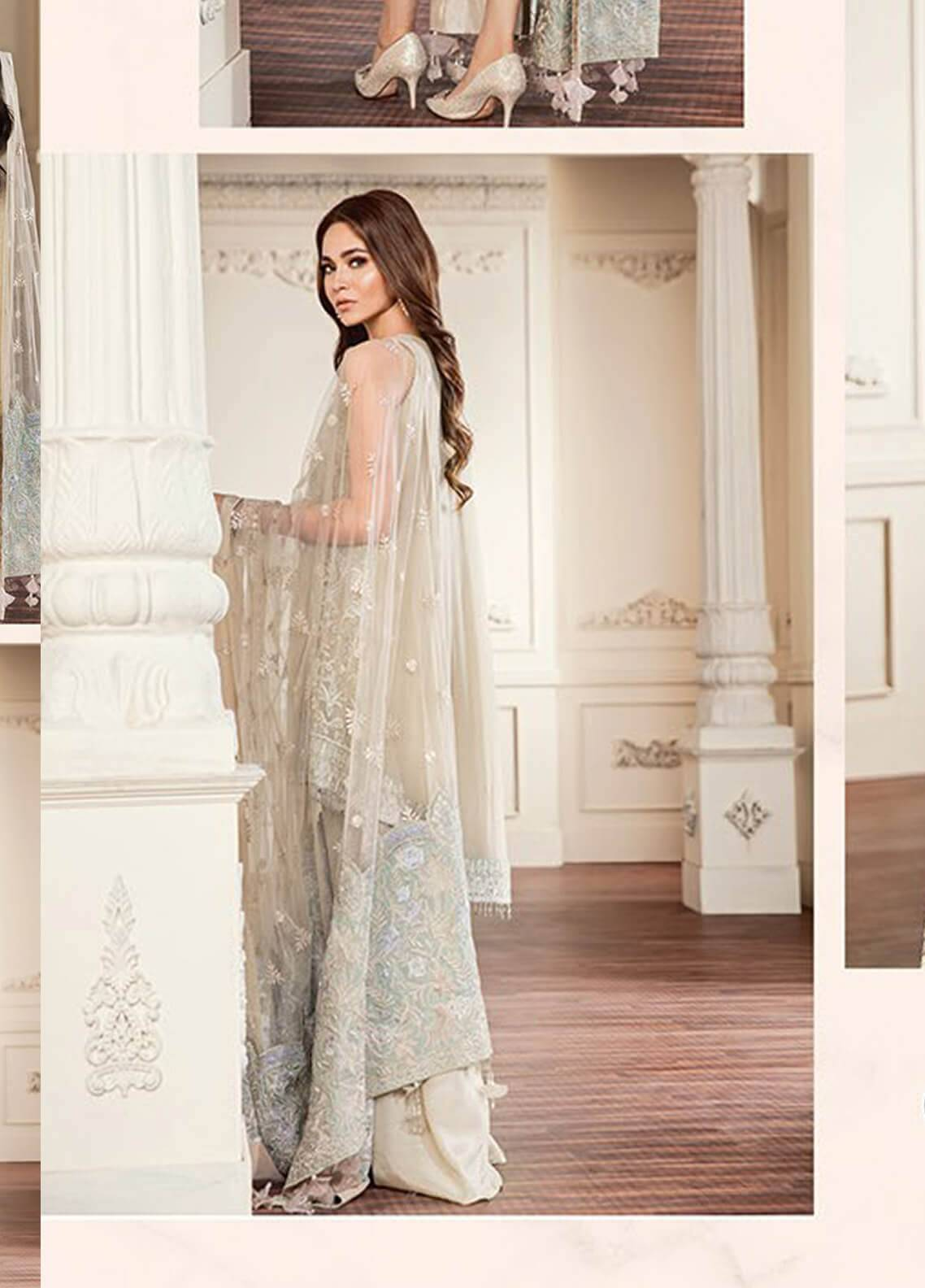 a5aa8509b4 Baroque Embroidered Chiffon Unstitched 3 Piece Suit BQC-04 Crystal Dust -  Luxury Collection