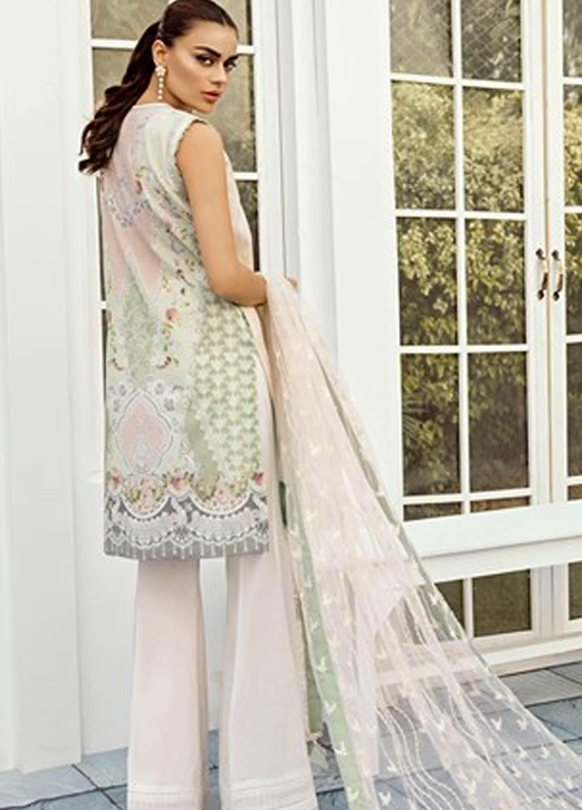 ab3cc0e7ce Baroque Embroidered Lawn Unstitched 3 Piece Suit FC19-L2 05 PEONY - Mid Summer  Collection