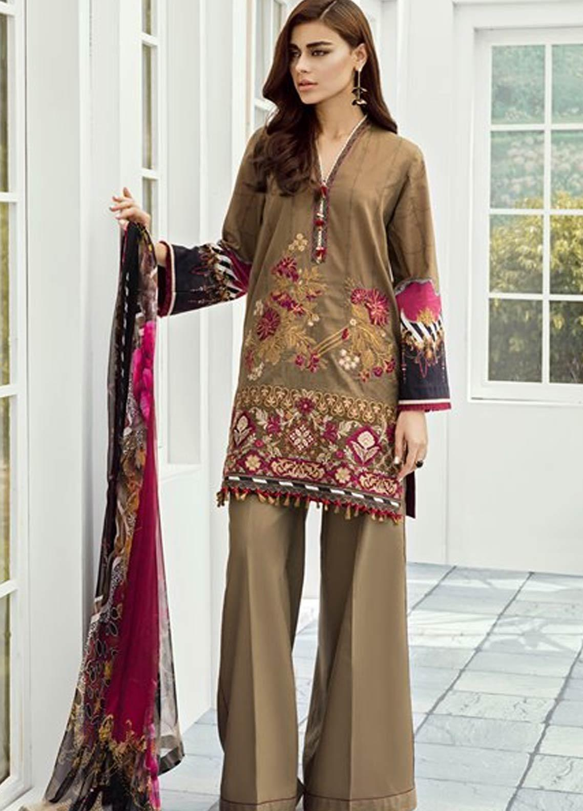 516ed6241d Baroque Embroidered Lawn Unstitched 3 Piece Suit FC19-L2 06 AZALEA - Mid  Summer Collection