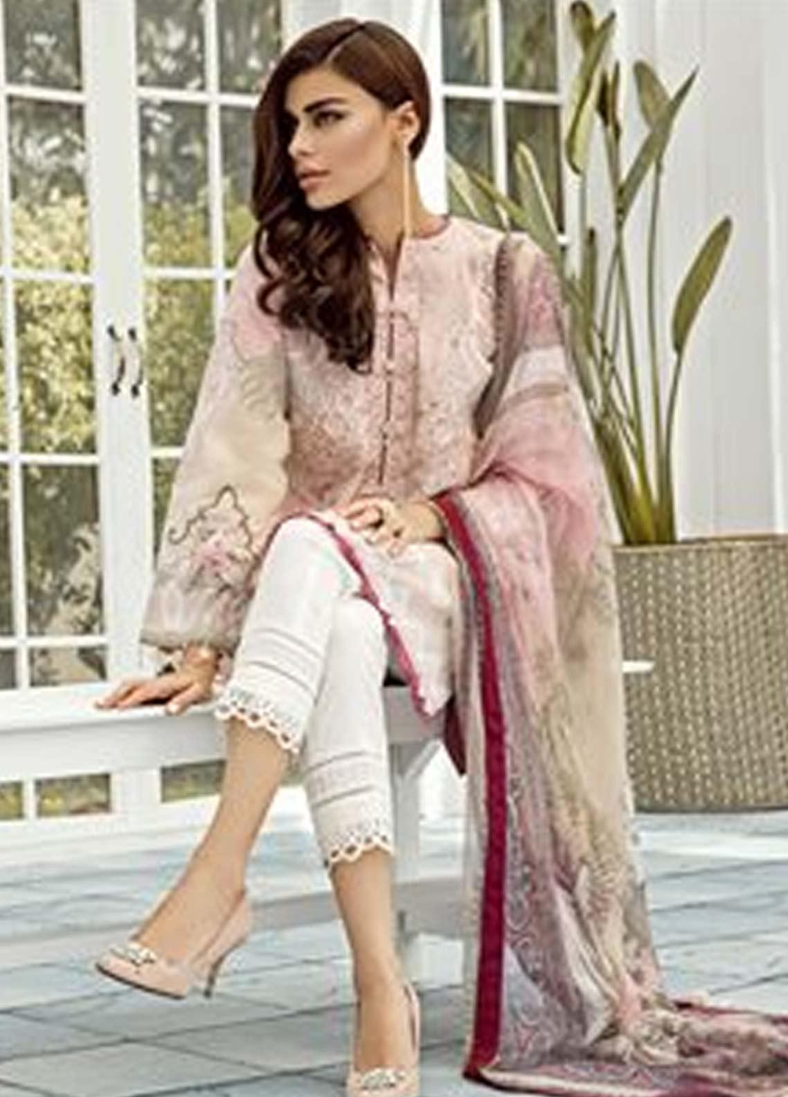 925157ad40 Baroque Embroidered Lawn Unstitched 3 Piece Suit FC19-L2 08 ORCHID - Mid  Summer Collection