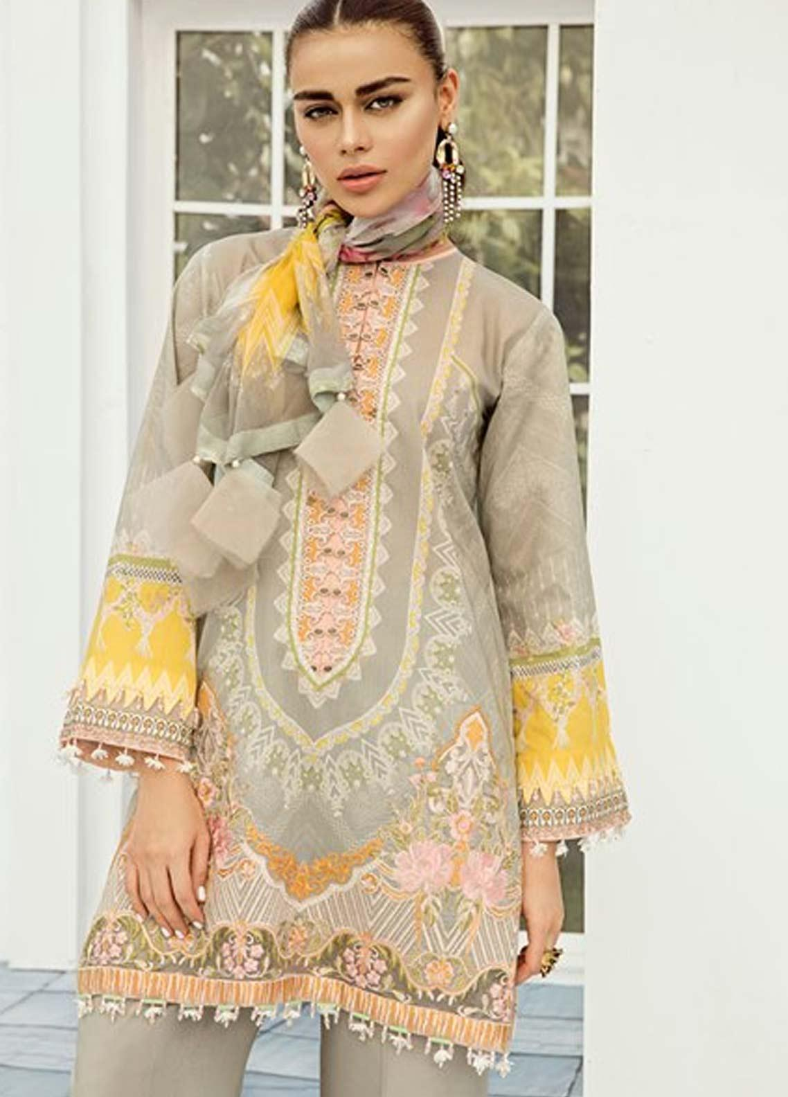 1f7666aa80 Baroque Embroidered Lawn Unstitched 3 Piece Suit FC19-L2 09 PROTEA - Mid  Summer Collection