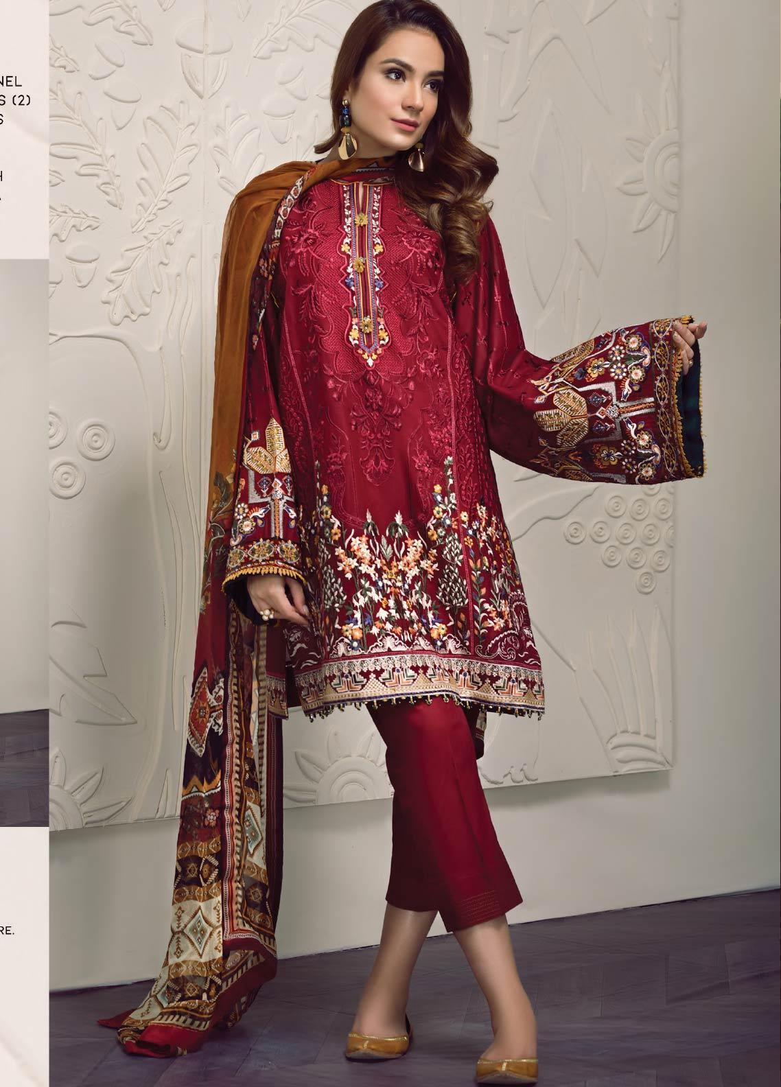Baroque Embroidered Lawn Unstitched 3 Piece Suit BQ19-S2 06 PEYTON - Mid Summer Collection