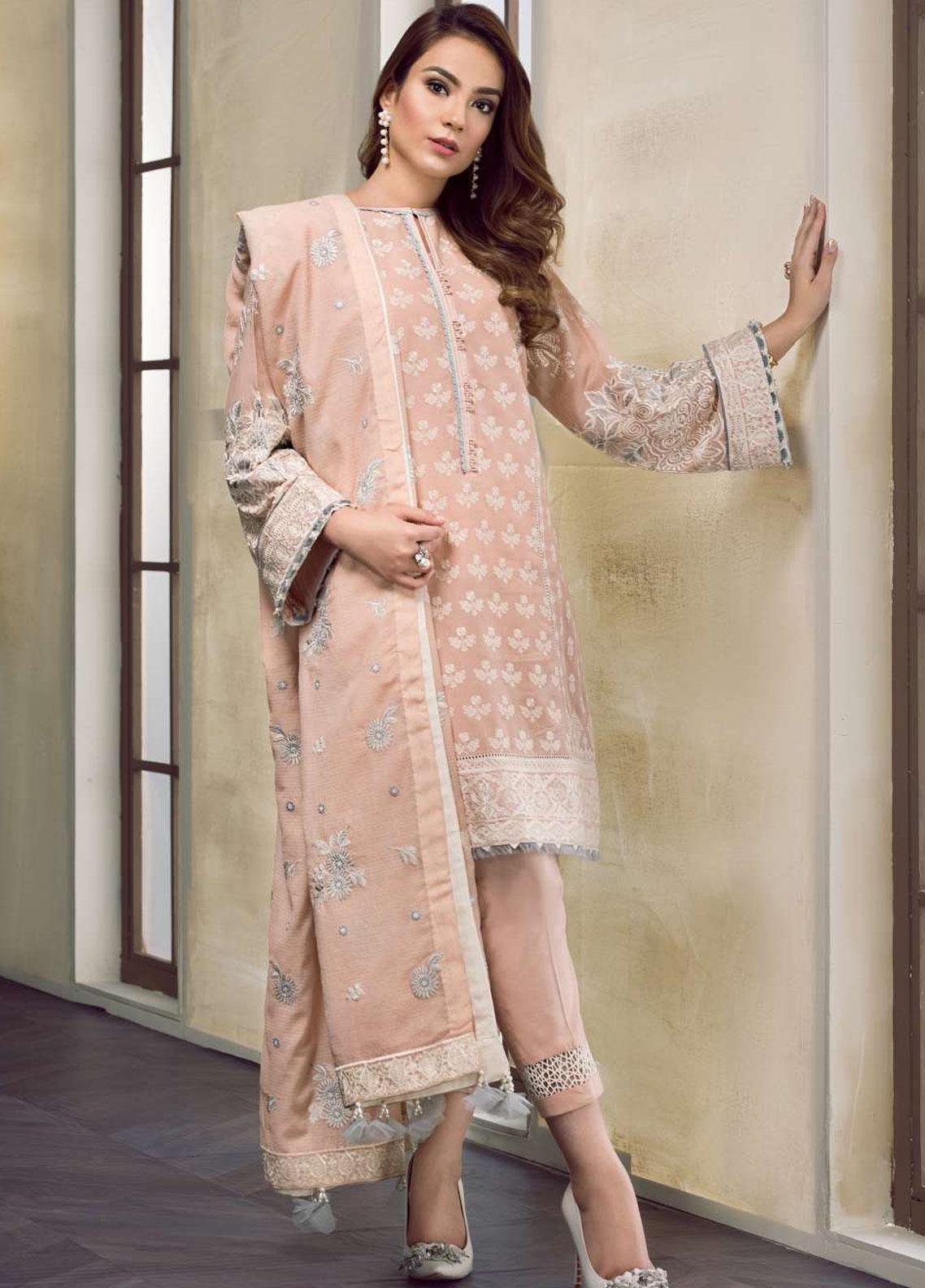 Baroque Embroidered Lawn Unstitched 3 Piece Suit BQ19-S2 09 KAYLA - Mid Summer Collection