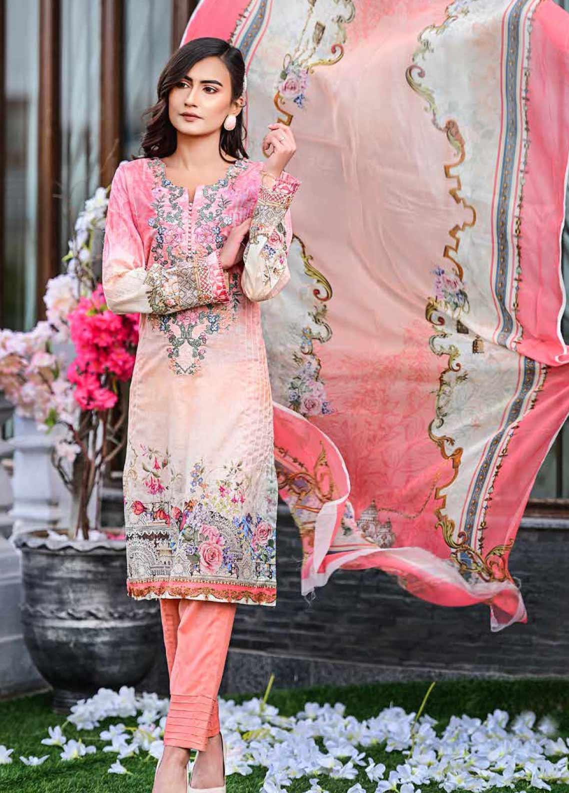 Bashir Ahmed Embroidered Lawn Unstitched 3 Piece Suit BA20L 06 - Summer Collection