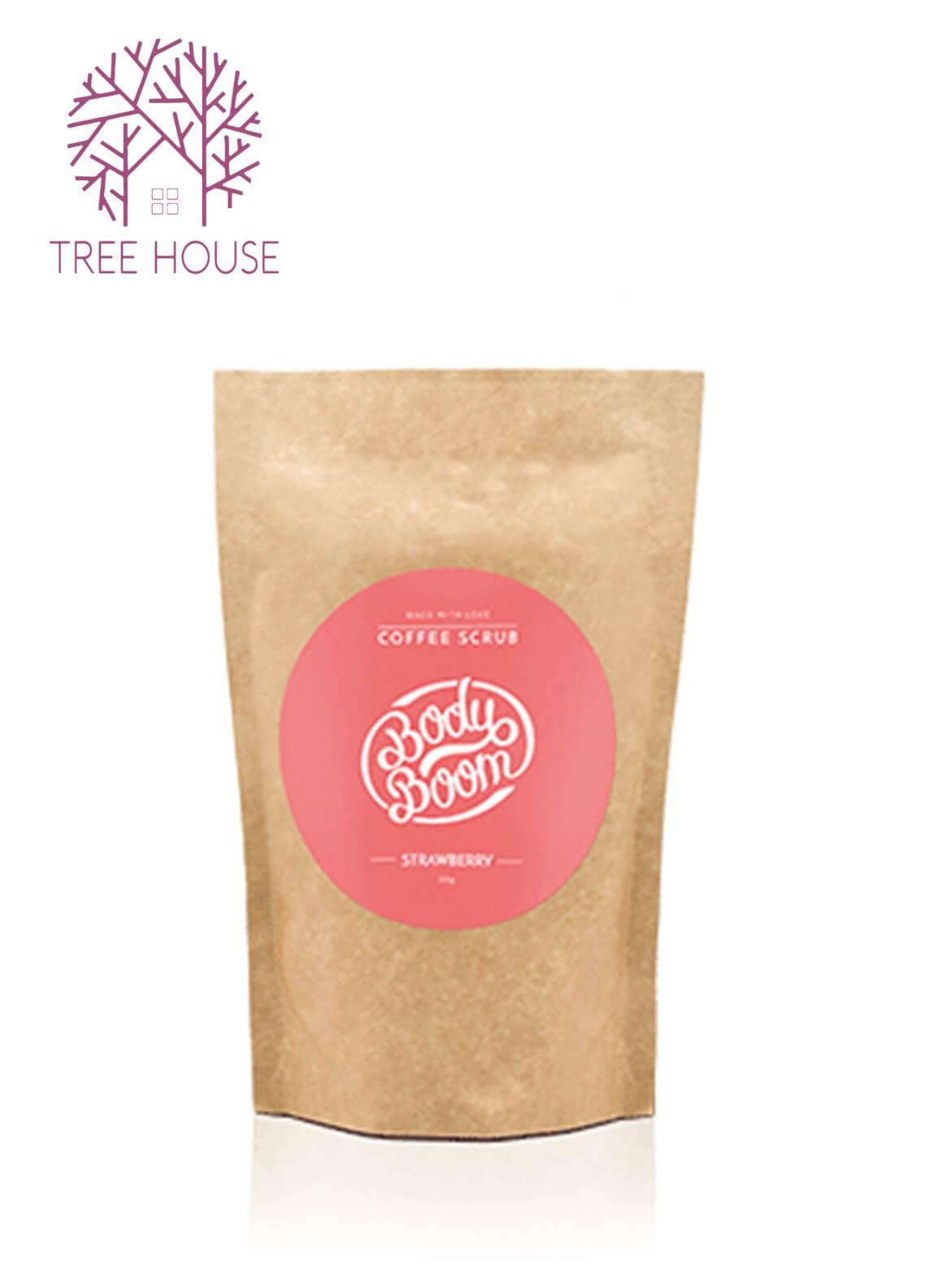 Body Boom Coffee Scrub (Strawberry Flavour)