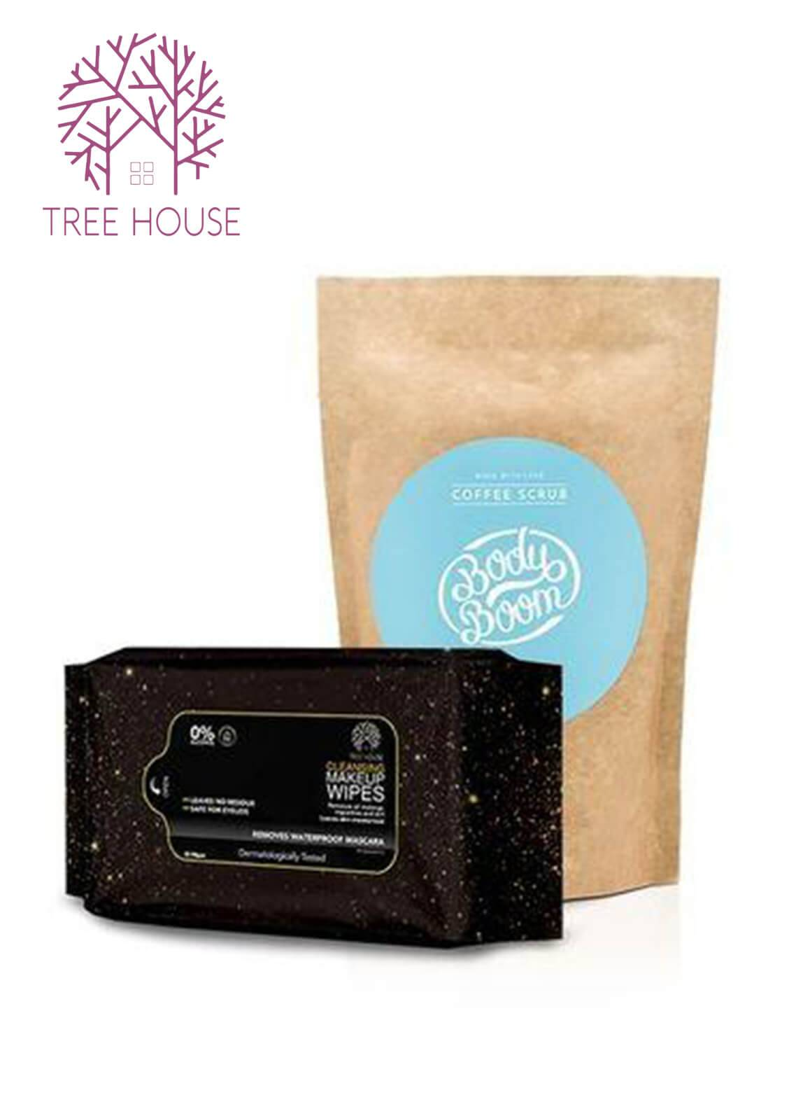 Coffee Scrub (Coconut Flavour)+Cleansing Makeup Wipes (Promo Pack)