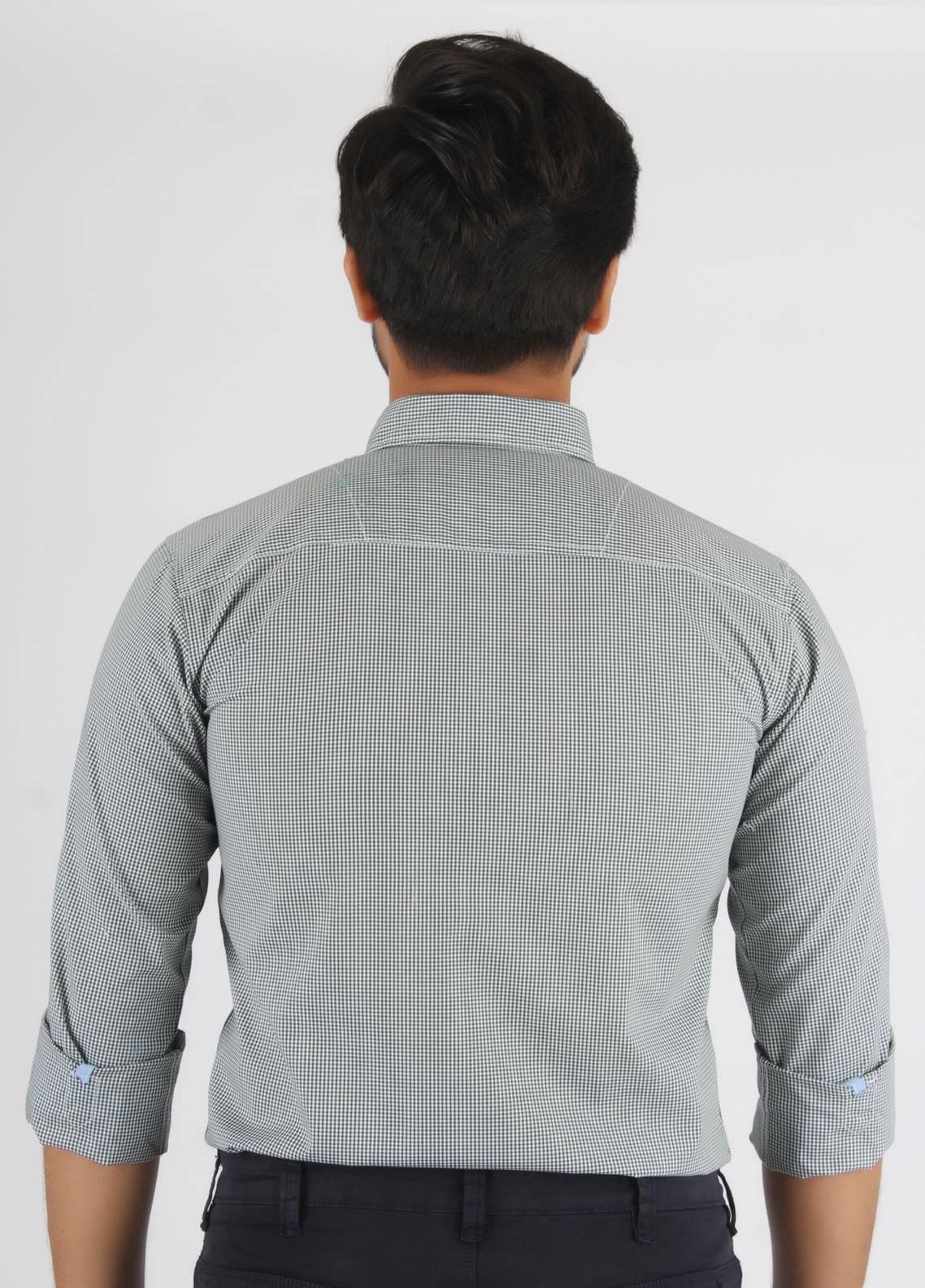 Bien Habille Cotton Casual Shirts for Men - Blue Design 1