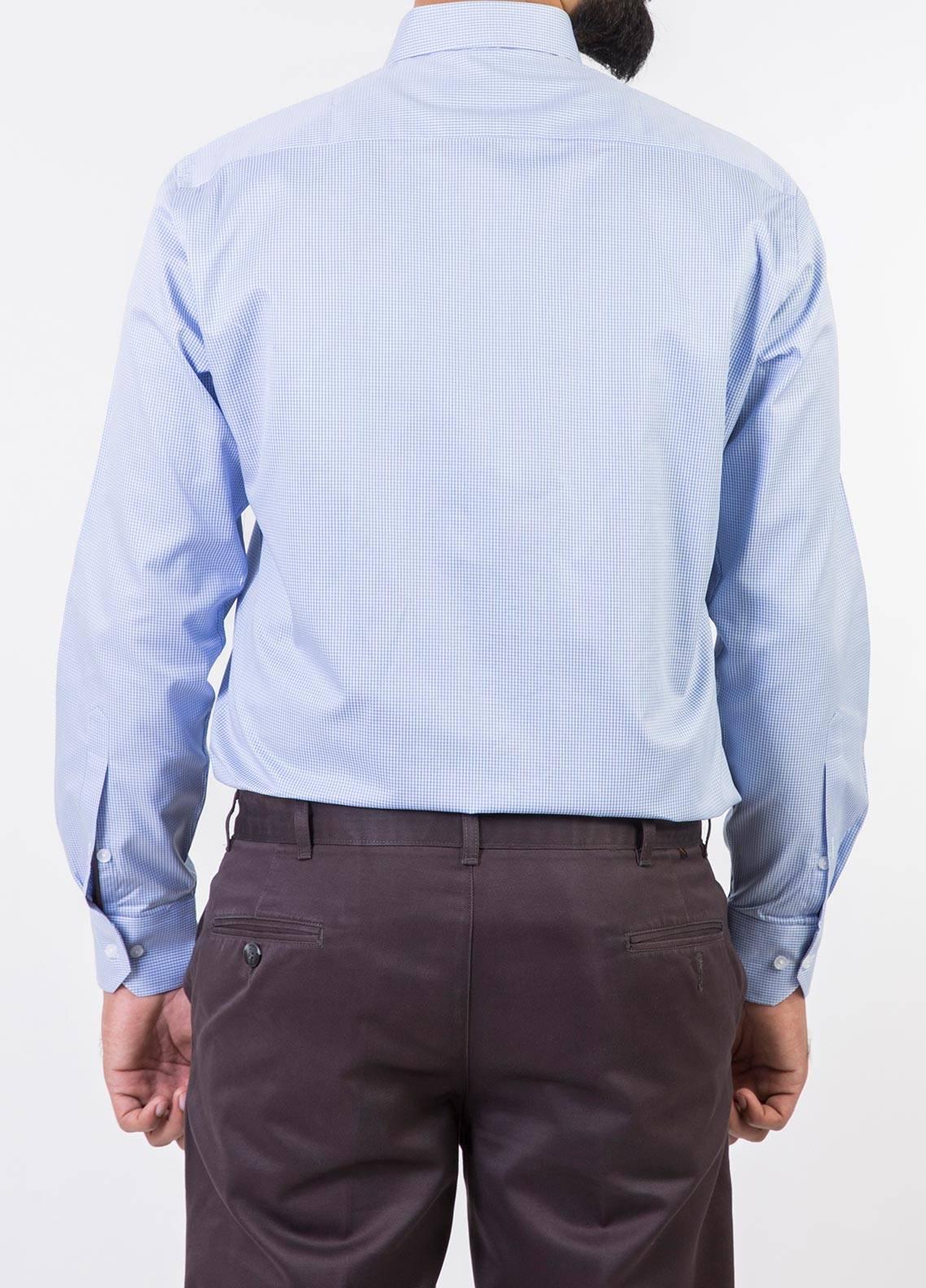 Bien Habille Cotton Formal Shirts for Men -  White & Blue Checks