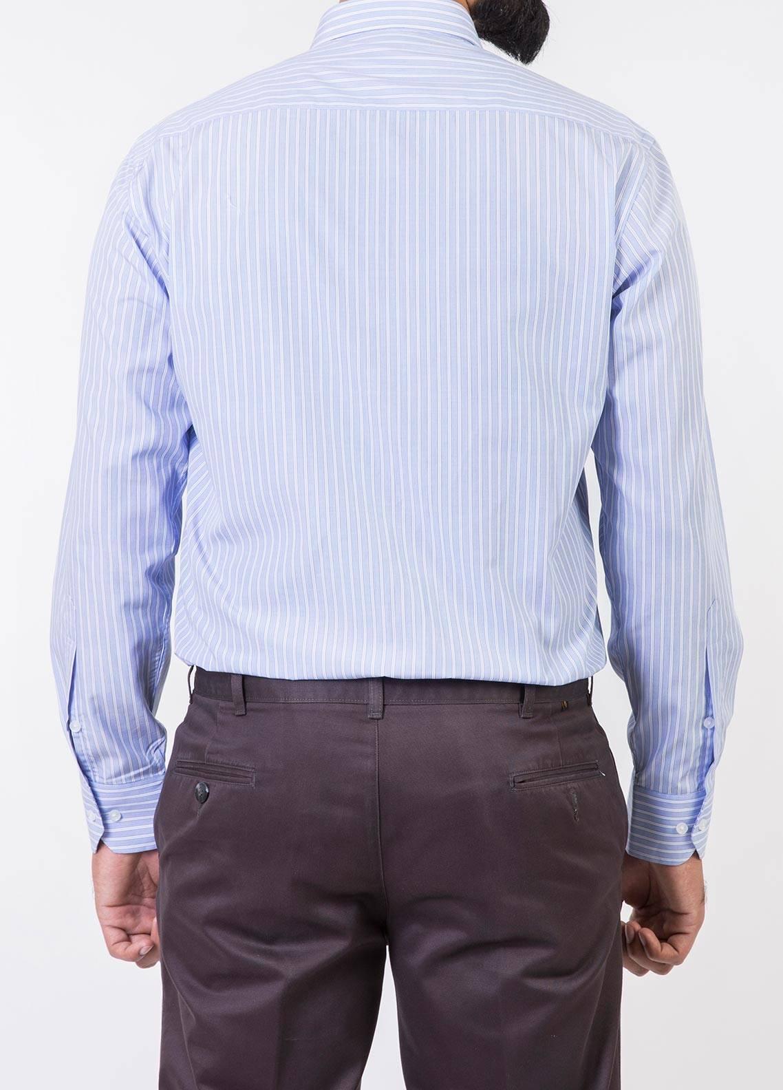 Bien Habille Cotton Formal Shirts for Men -   White & Dark Blue Lining