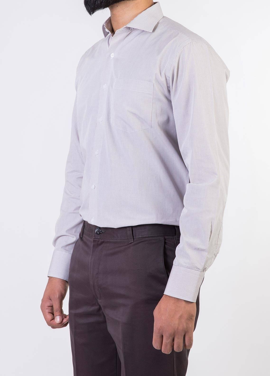 Bien Habille Cotton Formal Men Shirts -   White & Hot Chocolate