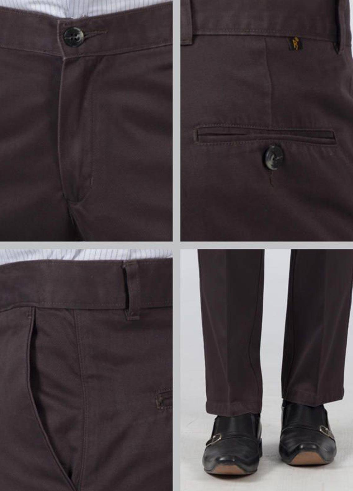 Bien Habille Cotton Ironeezee Trouser for Men -   Comfort Fit Rabbit Grey