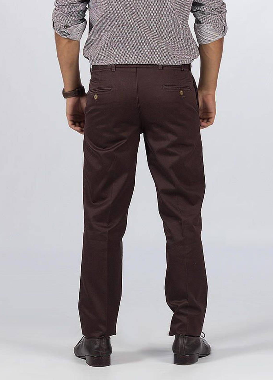 Bien Habille Cotton Ironeezee Men Trouser -   Smart Fit Capuccino