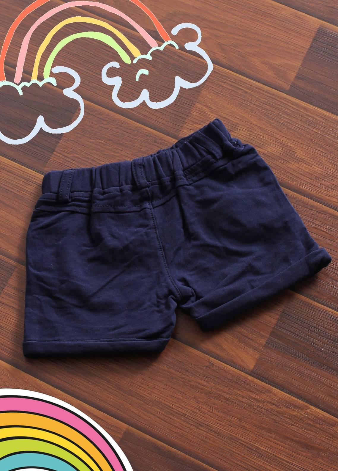 Sanaulla Exclusive Range Denim Casual Boys Shorts -  19020 Dark Blue