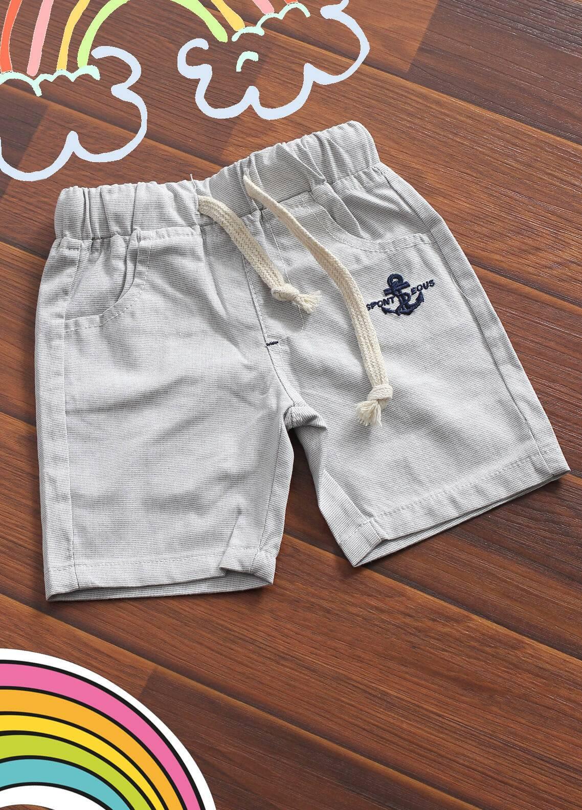 Sanaulla Exclusive Range Denim Casual Shorts for Boys -  1914 Grey