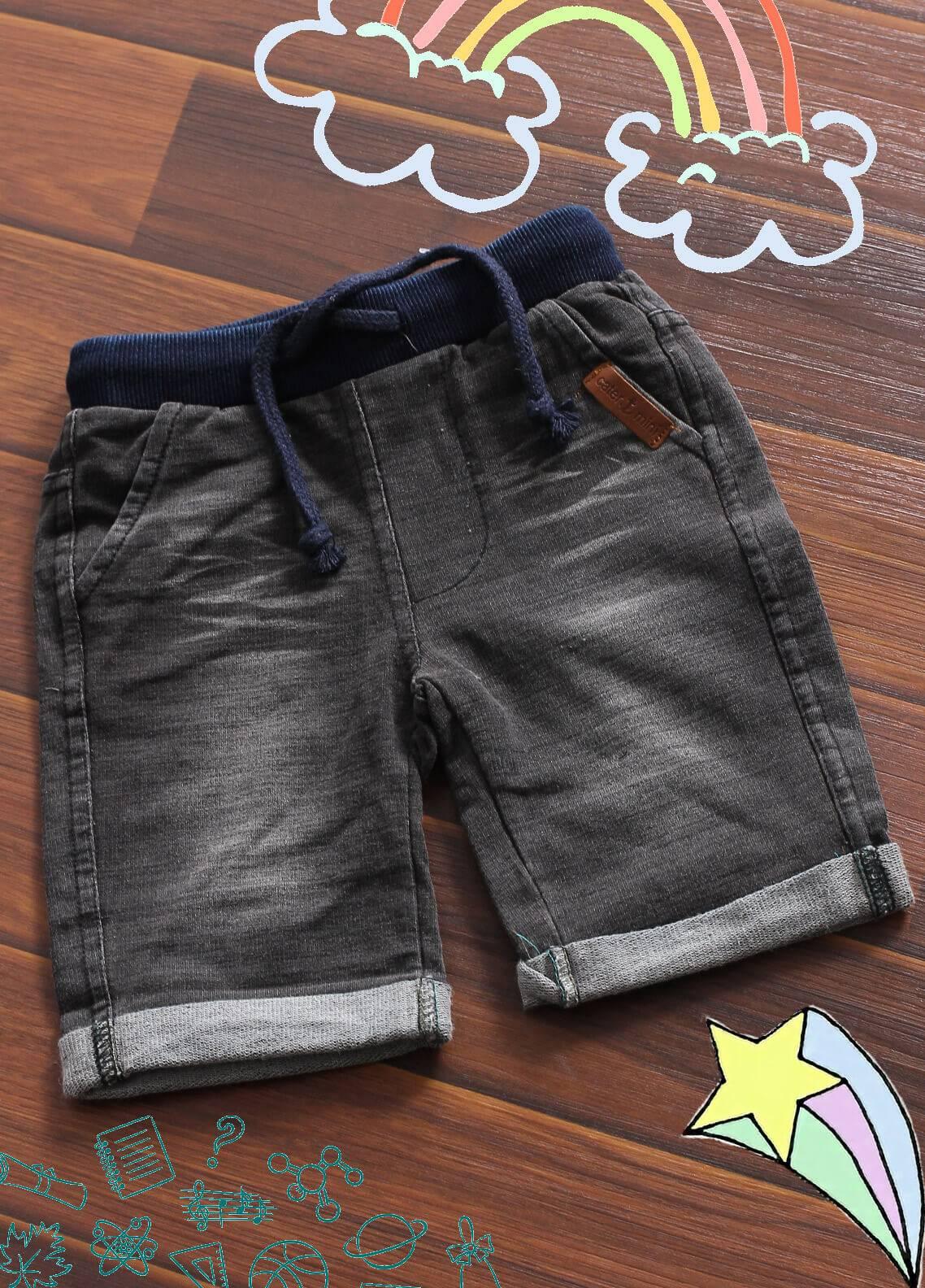 Sanaulla Exclusive Range Denim Casual Shorts for Boys -  3109 Blue