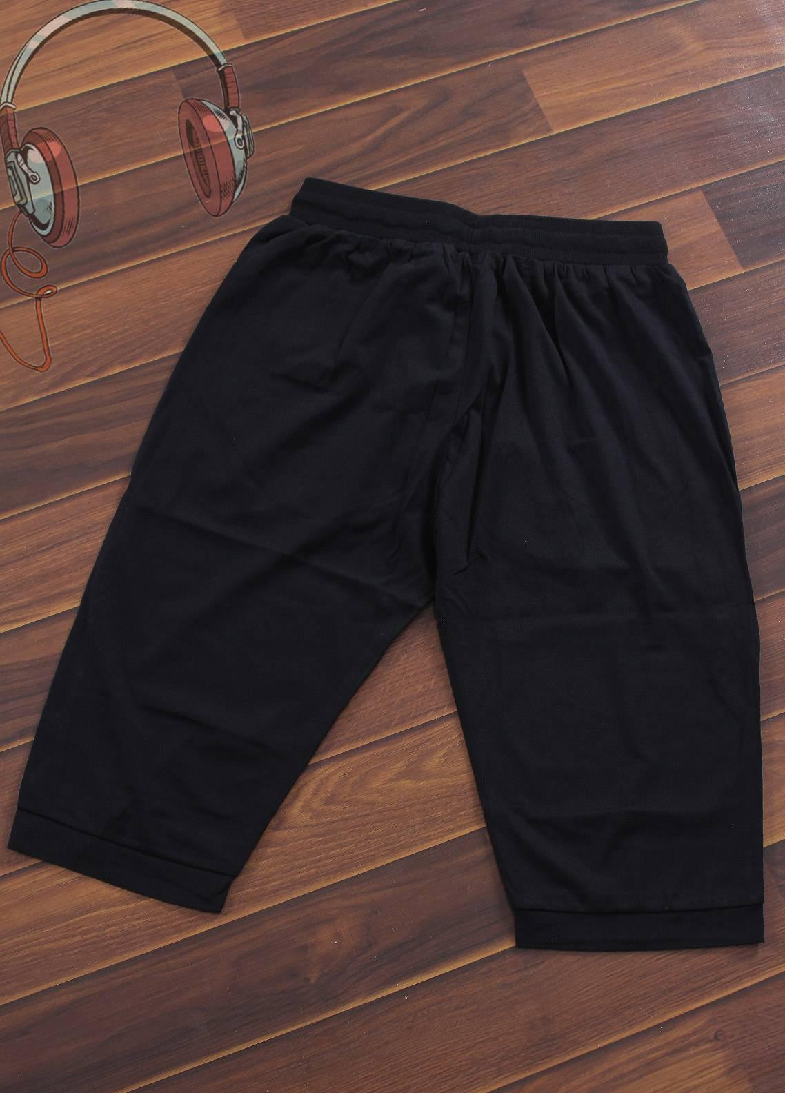 Sanaulla Exclusive Range Jersey Casual Shorts for Boys -  3942-Black