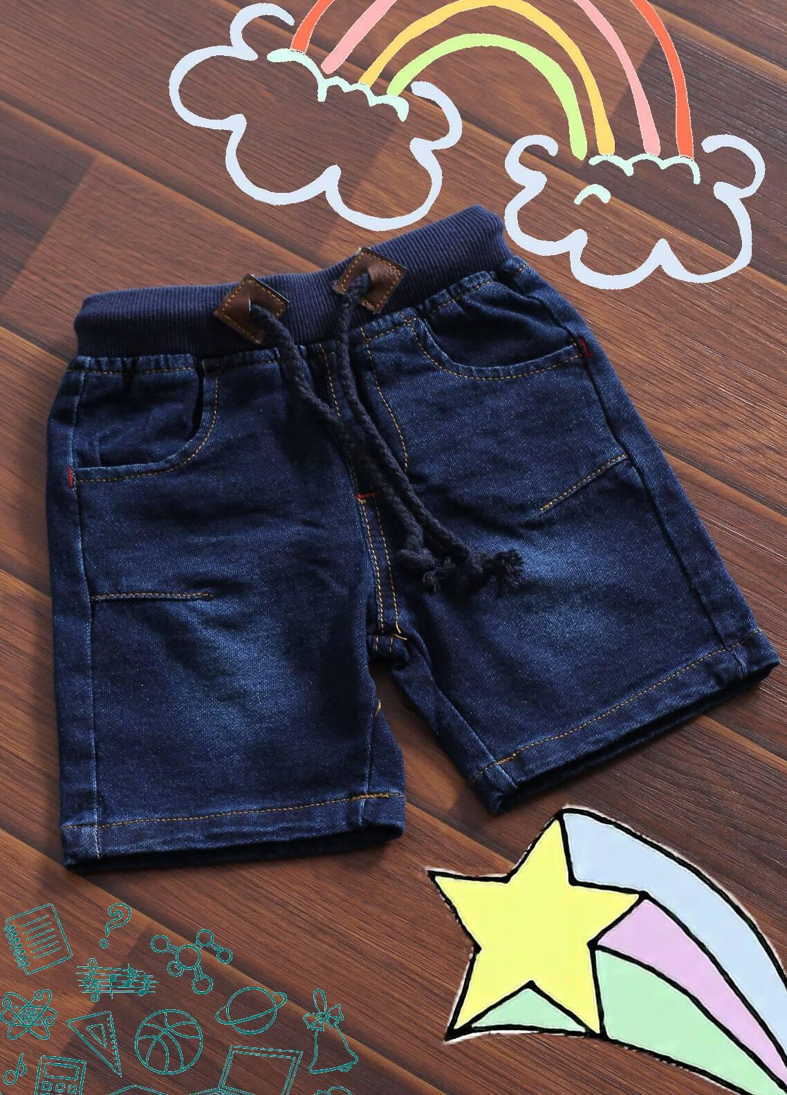 Sanaulla Exclusive Range Denim Casual Boys Shorts -  6067 Blue