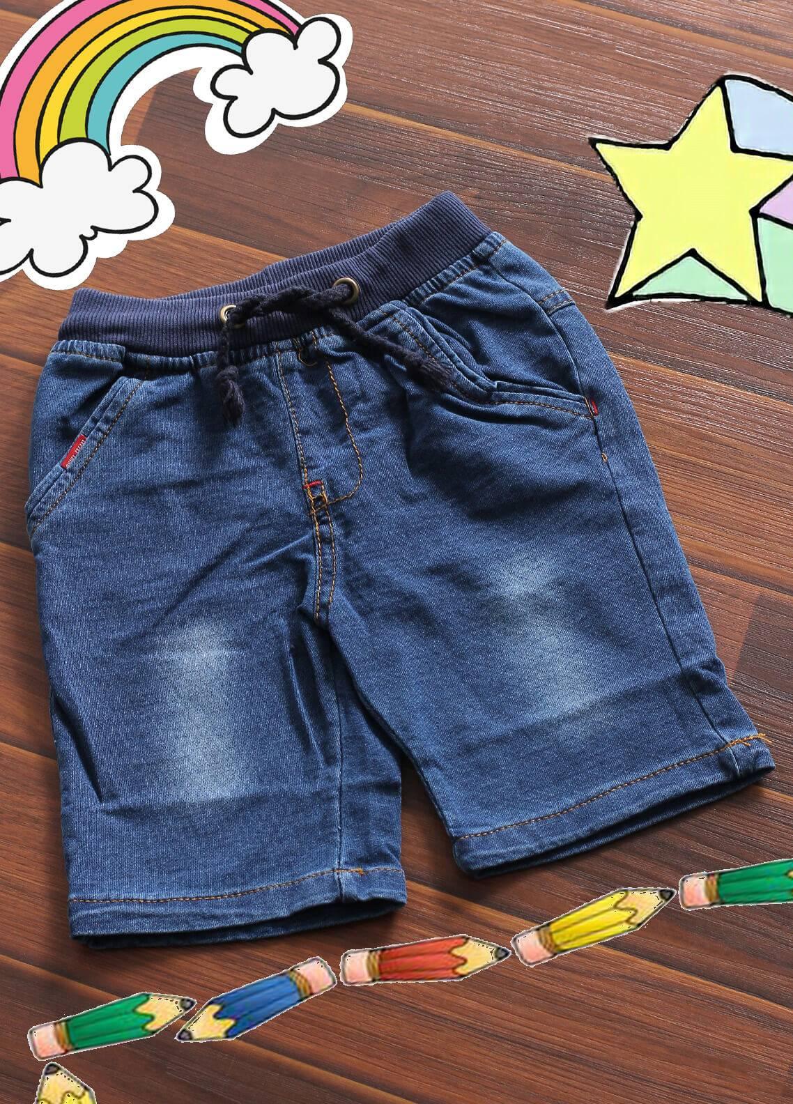 Sanaulla Exclusive Range Denim Casual Boys Shorts -  6072 Sky Blue