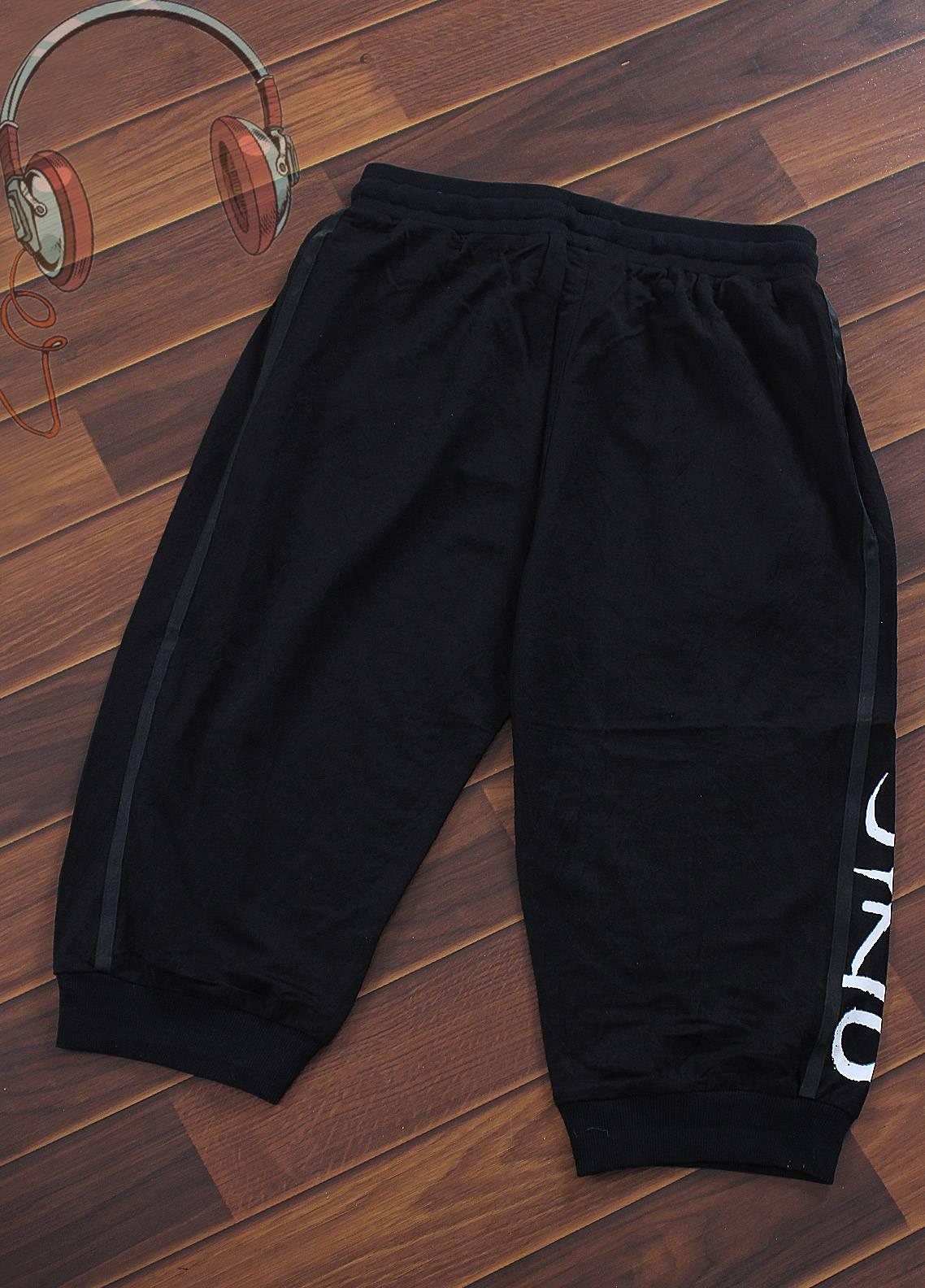 Sanaulla Exclusive Range Jersey Casual Boys Shorts -  F036-Black
