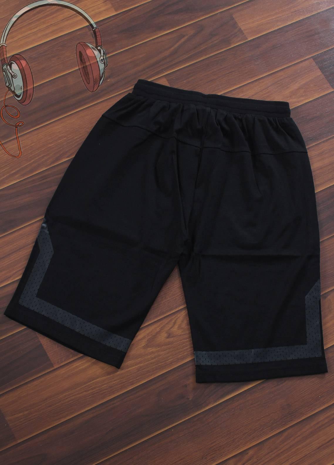 Sanaulla Exclusive Range Jersey Casual Shorts for Boys -  F038-Black