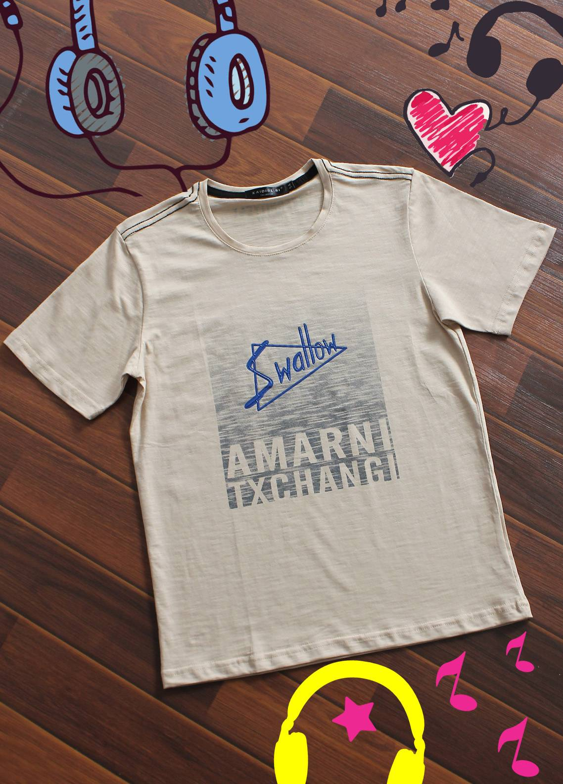 Sanaulla Exclusive Range Cotton Printed Boys T-Shirts -  19806 Fawn