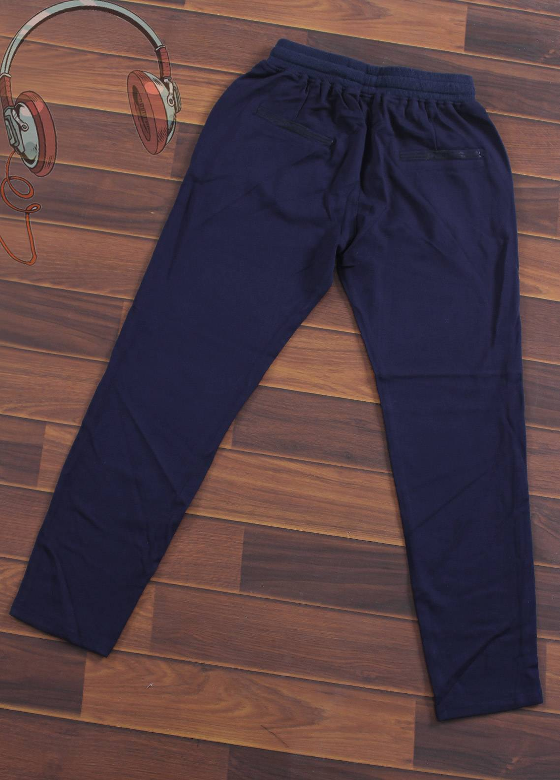 Sanaulla Exclusive Range Jersey Casual Trousers for Boys -  3755-Blue