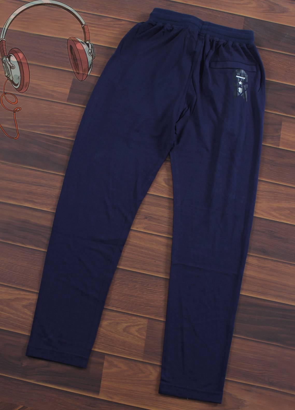Sanaulla Exclusive Range Jersey Casual Boys Trousers -  7001-Blue