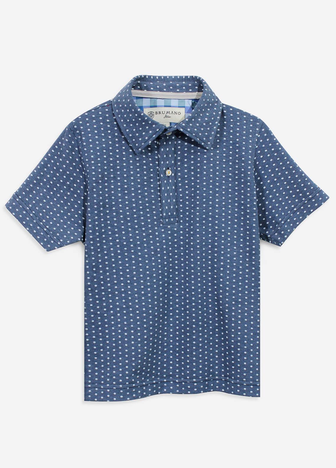 Brumano Cotton Polo Boys Shirts - Blue BRM-082