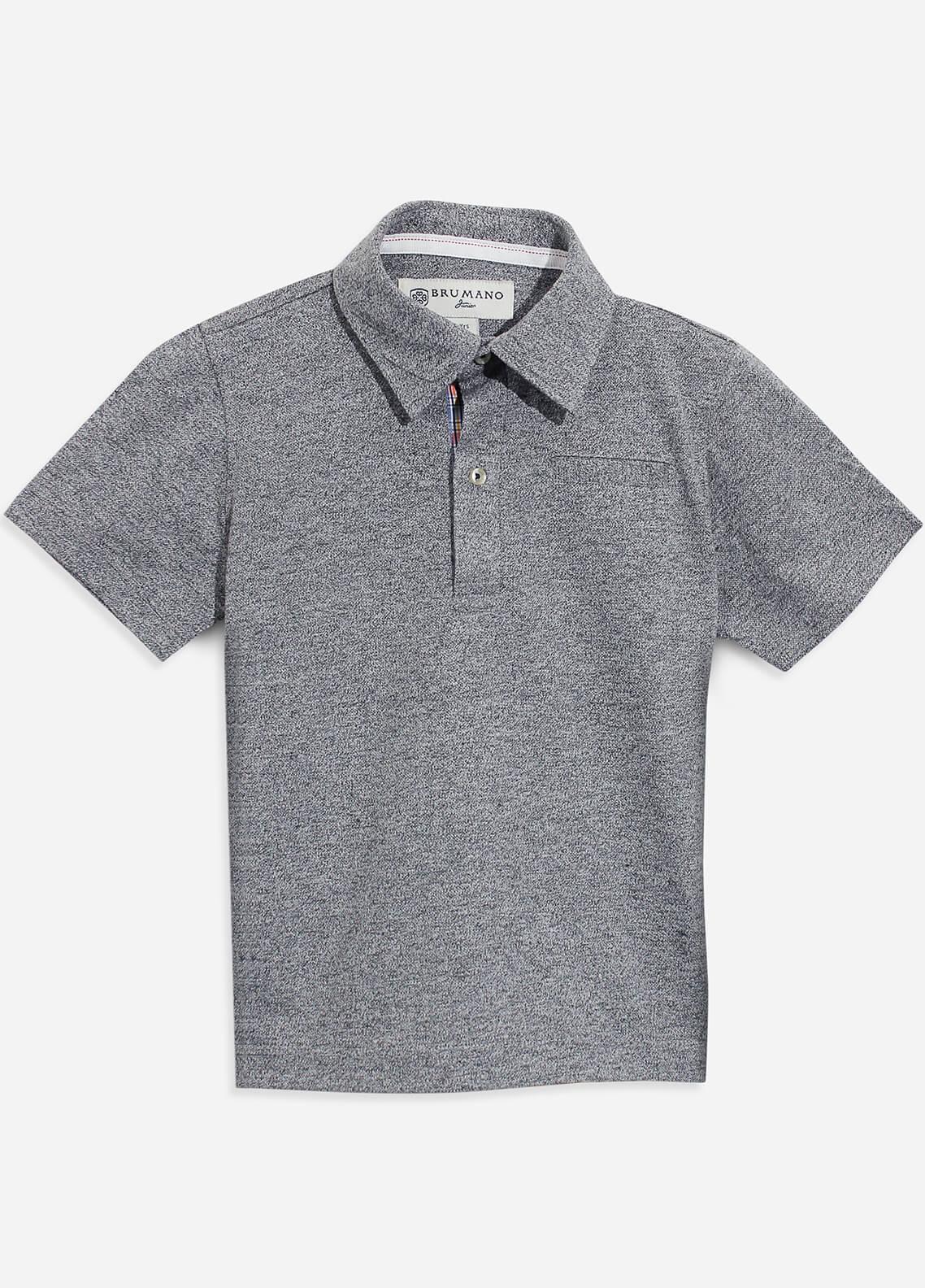 Brumano Cotton Polo Shirts for Boys - Grey BRM-087